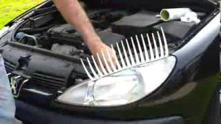 How to fit car eyelashes to a Peugeot 206.mp4