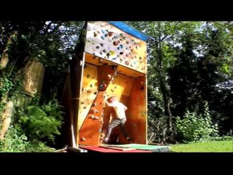 homemade outdoor bouldering wall youtube - Home Climbing Wall Designs