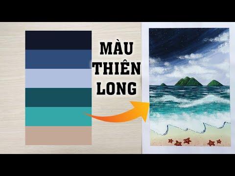 ART#49| Màu nước Thiên Long – Giấy A4| Vẽ biển | Watercolor Tutorial for beginners| Landscape