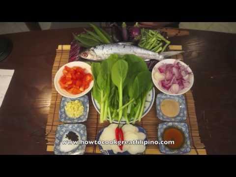 Paano magluto Sinigang na Bangus - Milk Fish recipe - Tagalog Pinoy Filipino Cooking Isda