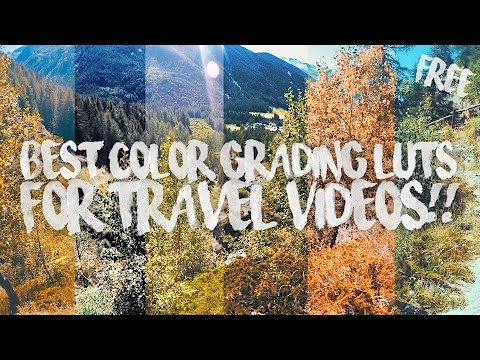 BEST COLOR GRADING LUTS FOR TRAVEL VIDEOS!! (free) - Видео с YouTube