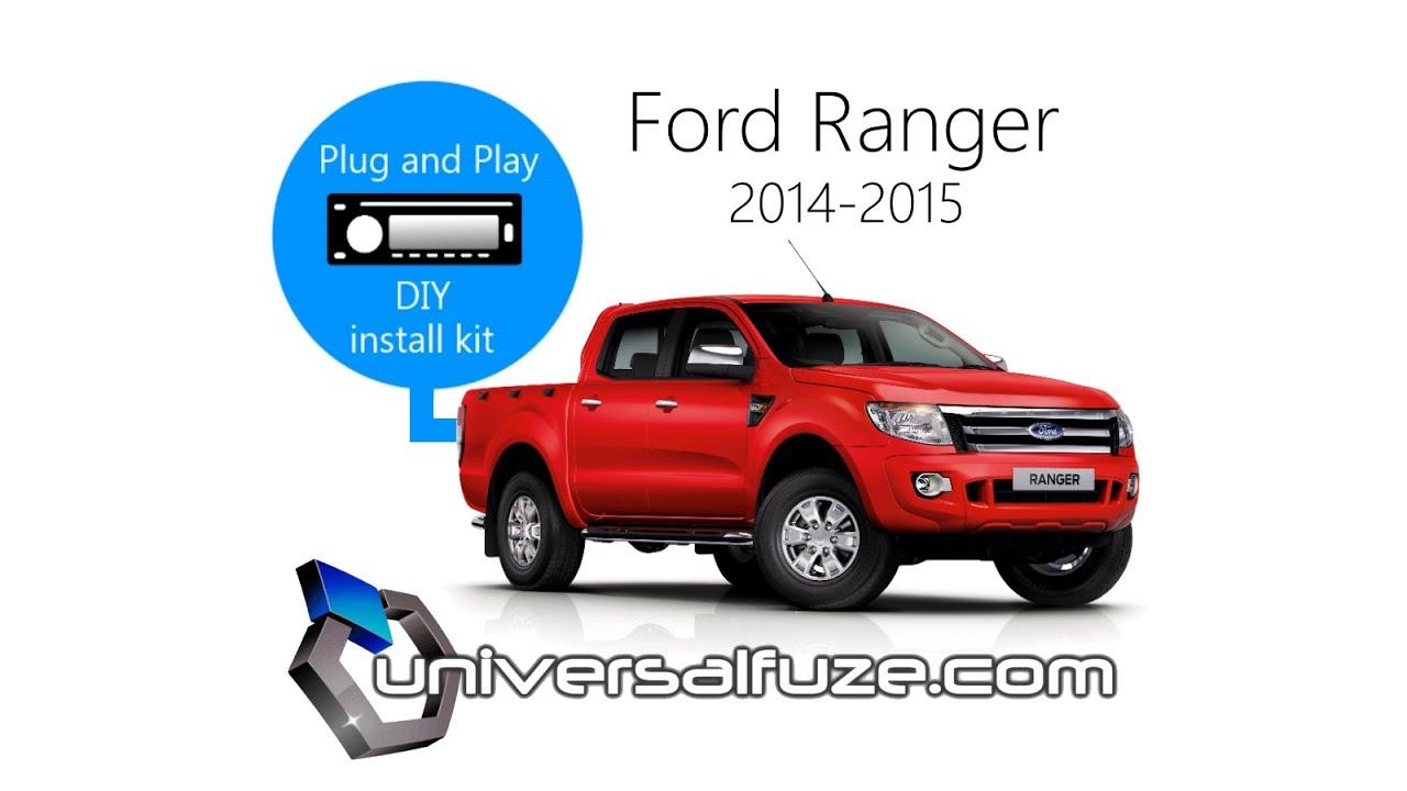 ford ranger audio unit upgrade installation kit inc steering wheel control adapter [ 1280 x 720 Pixel ]
