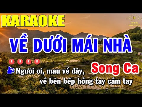 Về Dưới Mái Nhà Karaoke Song Ca Nhạc Sống | Trọng Hiếu