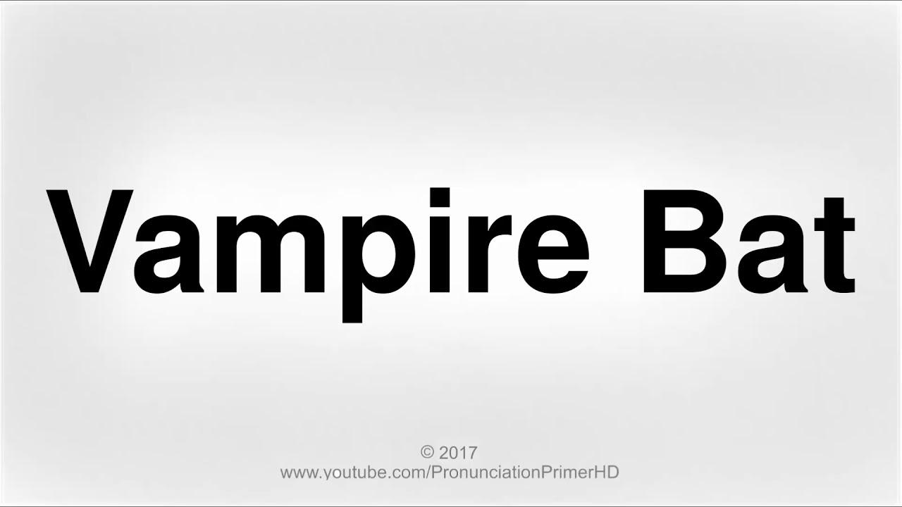 How To Pronounce Vampire Bat  Halloween Special Playlist  Pronunciation  Primer HD