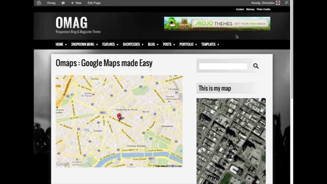 Omaps : Google Maps made Easy