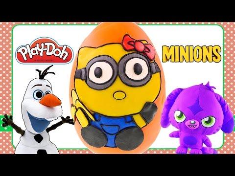 HELLO KITTY as a Minion Gigantic Play Doh Egg Surprise | Cute Sanrio Minions Surprise Toys DCTC