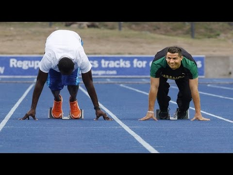 Cristiano Ronaldo VS Usain Bolt - Speed Test - Fan C7