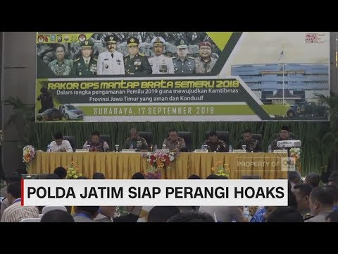 Polda Jatim Akan Tindak Penyebar Hoaks Di Pilpres 2019 | CNN ID Update