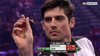 Alastair Cook v James Anderson - World Darts Championship, Alexandra Palace