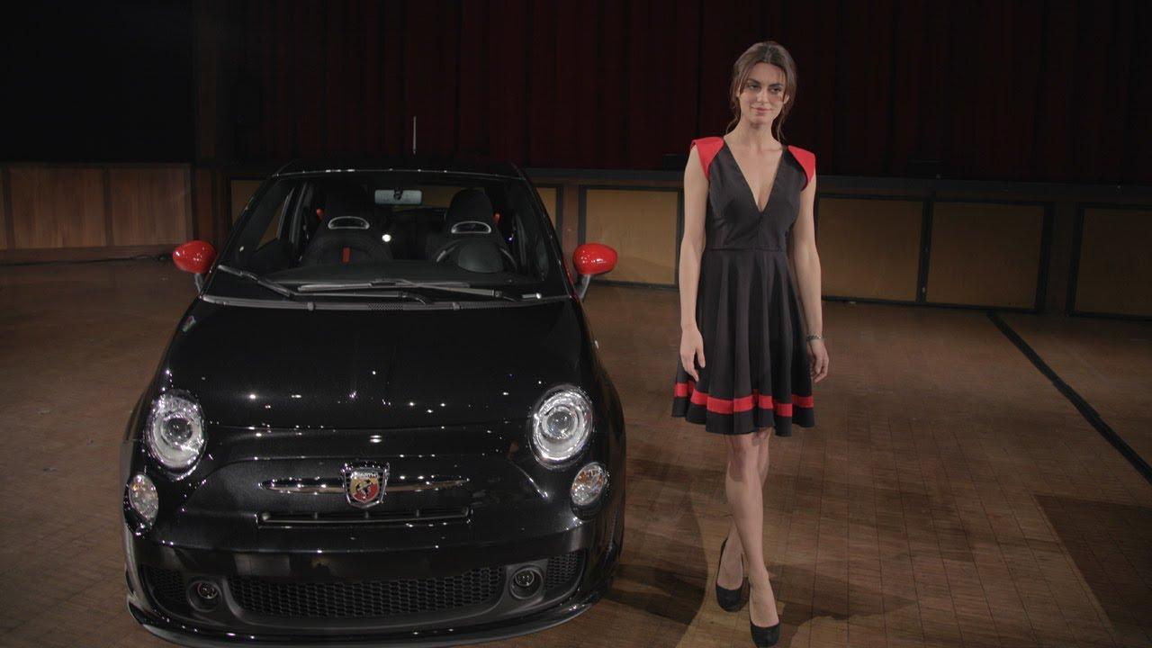 Sexy Supermodel Catrinel Menghia Seduces New Fiat 500