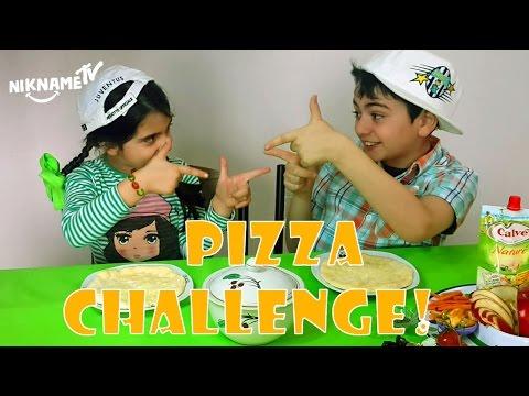 *პიცა ჩელენჯი*, ვთამაშობთ ნიკა და ნინჩოსთან ერთად  ვაკეთებთ საჭმელს - პიცა ,  ვიდეო ბავშვებისთის