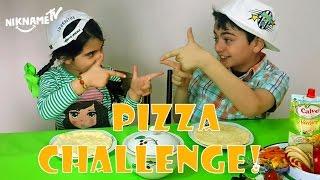 *პიცა ჩელენჯი*, ნინჩო და ნიკა აკეთებენ პიცას, სხვადასხვა საჭმელებიდან, სახალისო ვიდეო ბავშვებისთის