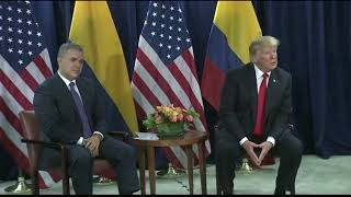 Rueda de prensa de los Presidentes de Colombia y Estados Unidos - 25 de septiembre  de 2018