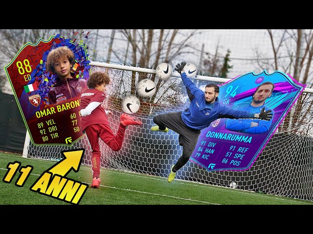 Può un RAGAZZO di 11 ANNI BATTERE DONNARUMMA?? Omar Barone VS Pro Goalkeeper