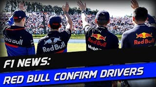 F1 News: Red Bull Confirm 2020 Line-Ups
