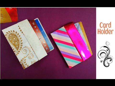 Credit / Business card Holder/Case/Wallet - DIY | Useful Origami