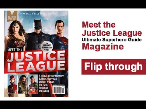 Justice League Magazine Ultimate Superhero Guide Flip Through - Magazines look superheroes real