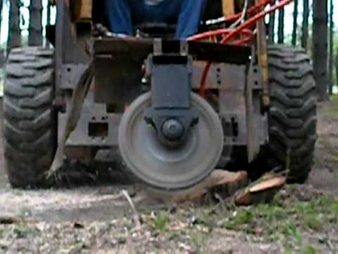 Home Made Stump Grinder Youtube