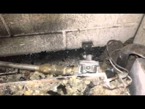 Gas fireplace problem - YouTube