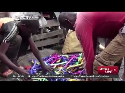 Cameroonians burning plastic waste as alternative to kerosene