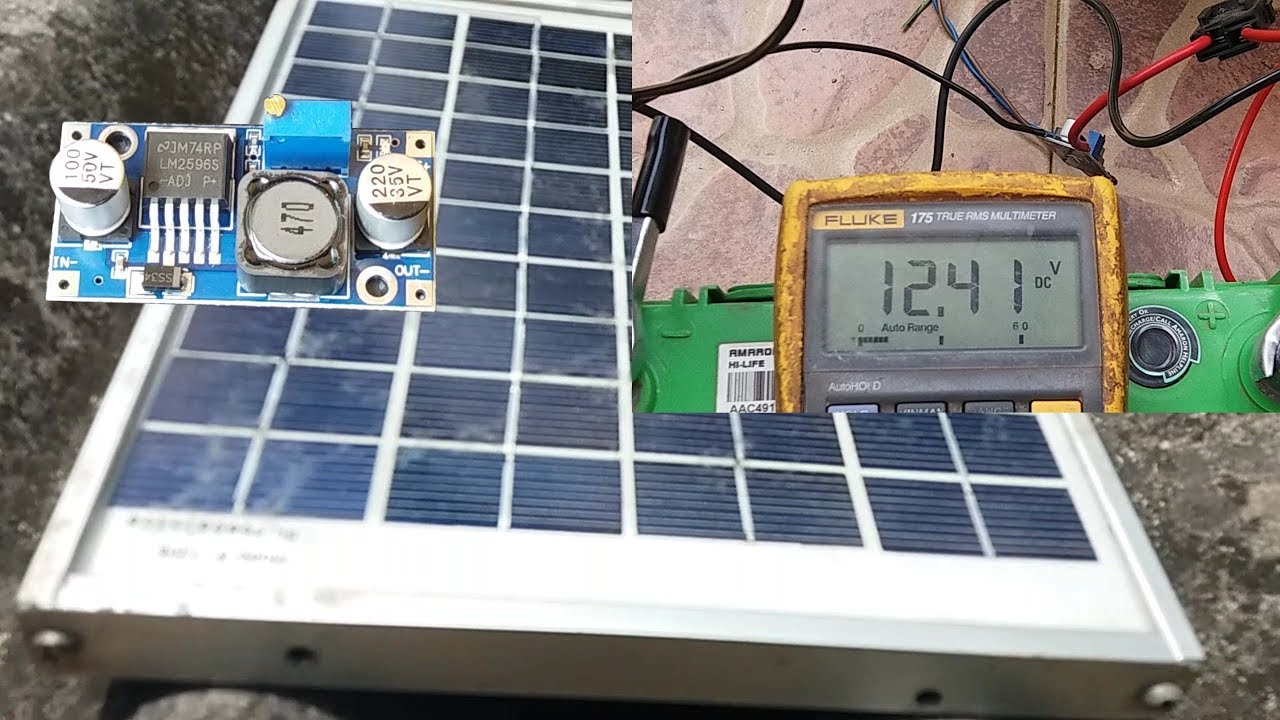How To Charge Car Battery With Solar Panel Using Lm2596 Youtube Charging Car Battery Solar Panels Car Battery