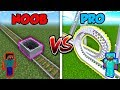 Minecraft NOOB vs. PRO: ROLLERCOASTER in Minecraft!