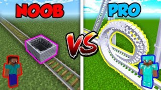 Minecraft NOOB vs. PRO: ROLLERCOASTER in Minecraft! thumbnail