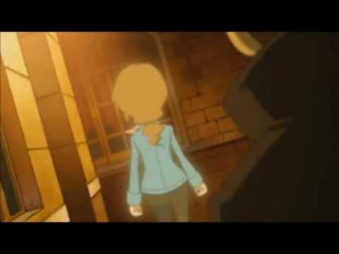 Claire says goodbye to Layton in Professor Layton and the Lost Future