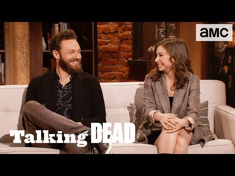 'Two Takes or Less' ft. Ross Marquand & Katelyn Nacon Highlights Ep. 810 | Talking Dead