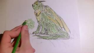 Drawing the King dragon/Time-lapse Art