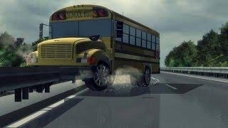 児童10人乗るバスが川に転落