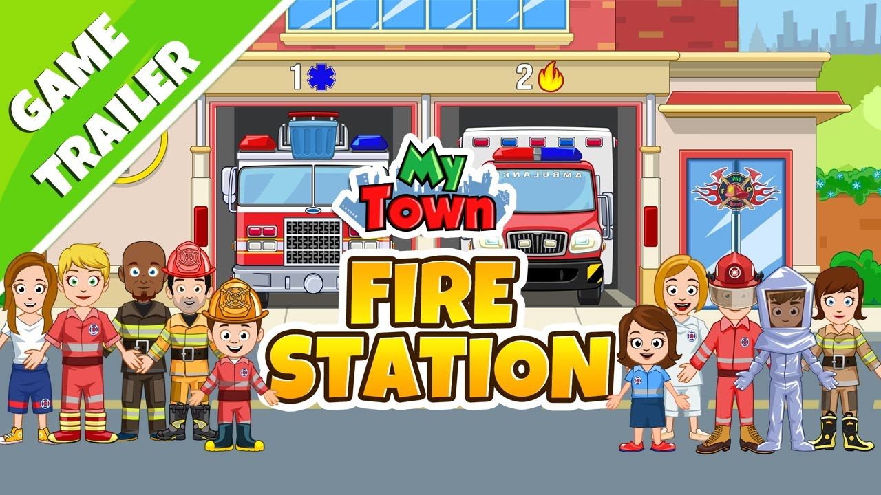 My Town : Fire station Rescue - Game Trailer - YouTube