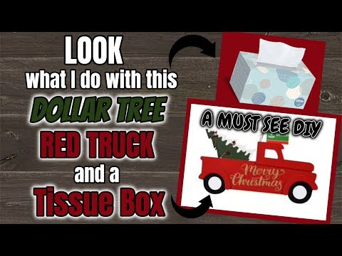 LOOK what I do with this Dollar Tree RED TRUCK and a TISSUE BOX | MUST SEE DIY