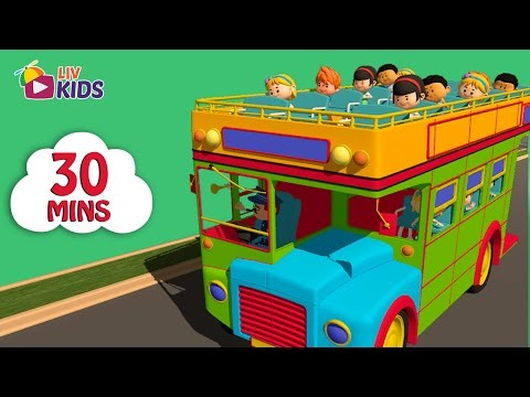 Wheels On The Bus and 18 more | 30 mins compilation | LIV Kids Nursery Rhymes and Songs | HD