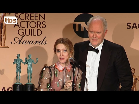 John Lithgow & Claire Foy: Press Room Q&A | 23rd Annual SAG Awards | TBS