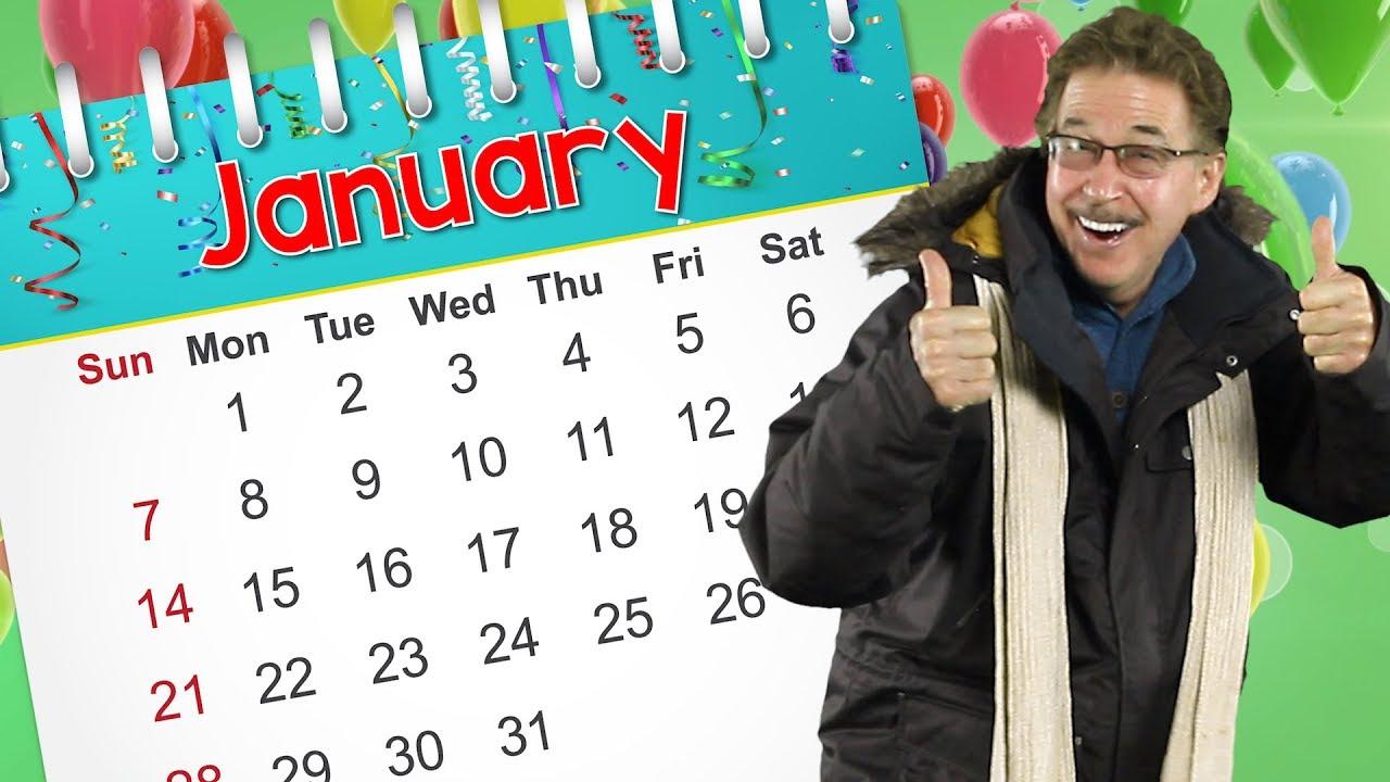 january calendar song kids jack hartmann youtube