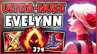 WTF! ONE EVELYNN E INSTANT KILLS ANYONE NOW!?! THIS IS LEGIT BEYOND BROKEN!! - League of Legends