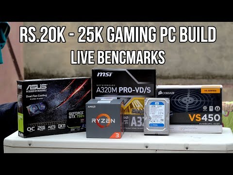 Rs.20000 - Rs.25000 Gaming PC Build India 2018 {HINDI} 1080P Budget Gaming