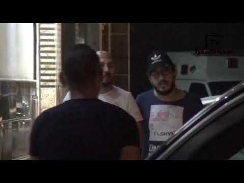 حزن وتأثر وفاء عامر وبوسى شلبى وهشام ماجد خلال مواساه بنات الفنان سمير غانم بمستشفى الصفا