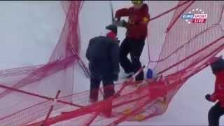 Lindsey Vonn grosse chute à Val D'Isere 14_12_2012.