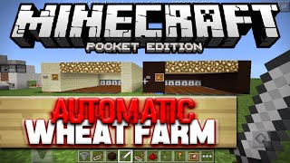 AUTOMATIC WHEAT FARM for Minecraft PE 0.14.0 - MCPE Redstone Tutorial (Pocket Edition)