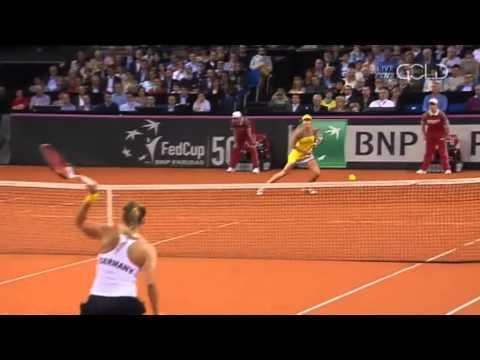 Fed Cup: Ana Ivanovic (SRB) Vs Angelique Kerber (GER) 2013 Full Match