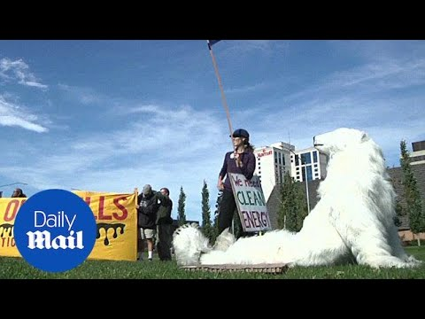 Environmentalists rally for climate change in Alaska - Daily Mail