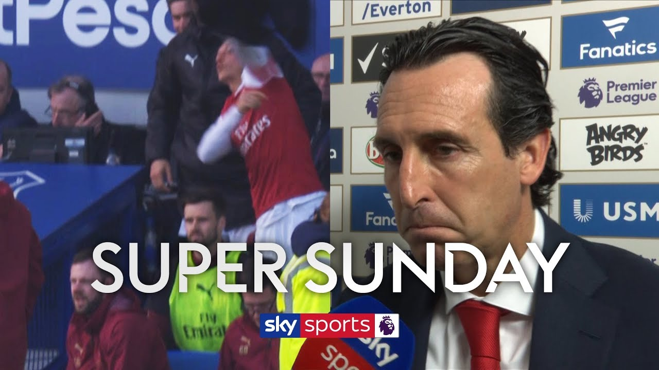 Did Mesut Ozil throw his coat at Unai Emery in frustration?!   Super Sunday