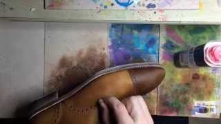 Stripping the shoes from previous color