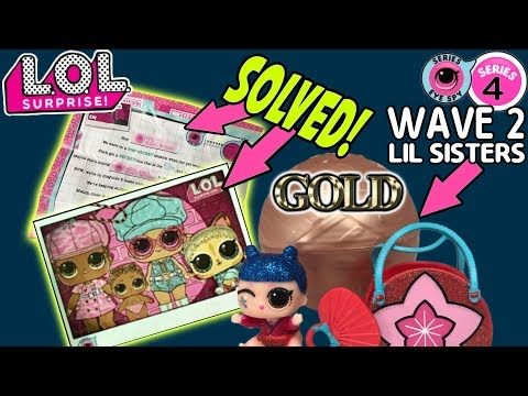 LOL Surprise Series 4 Wave 2 Lil Sisters | New LOL Dolls | LOL Bigger Surprise LOL Dolls Case Closed