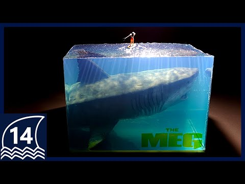 "Build an impressive scene from ""THE MEG""【thalassophobia/Megalodon/shark/Resin art/Diorama】"