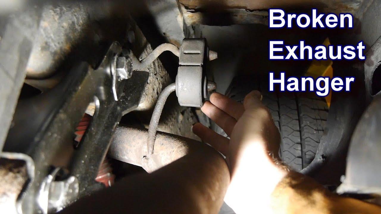 fixing broken exhaust hanger no welding