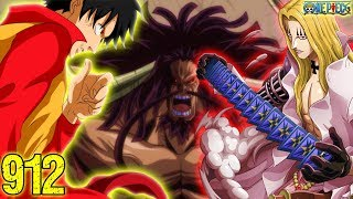 LUFFY, LAW, BASIL HAWKINS And KID Vs KAIDO Greatest Fight - One Piece 912