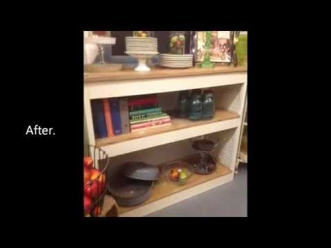 DIY Project build an attractive Console table from wooden shutters